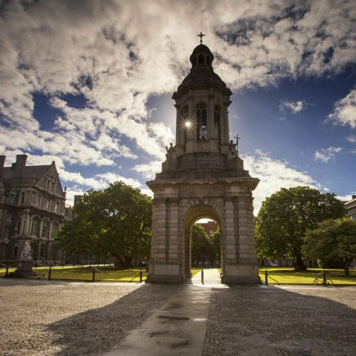 A view of Trinity College gardens