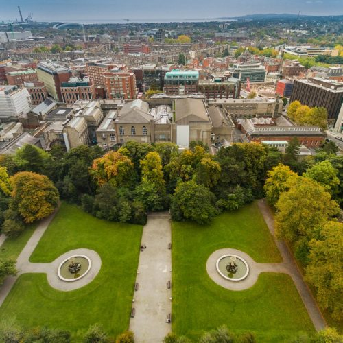 Aerial view of Iveagh Gardens in Dublin