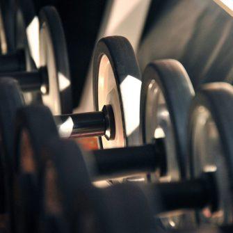 Weights at Hotel gym