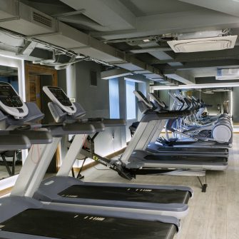 Treadmills in the Core Gym at the Alex Hotel