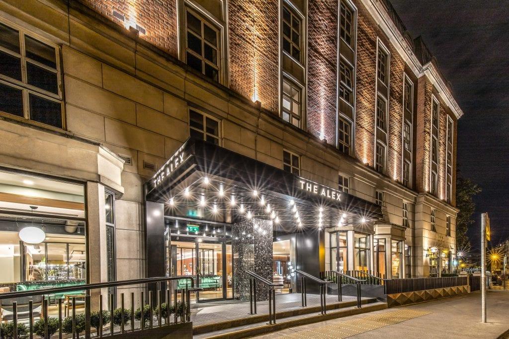 The Alex hotel building