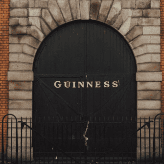 The front door of the Guinness Store House