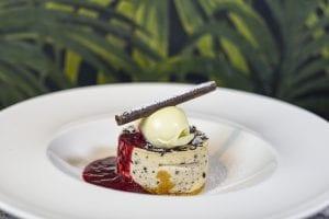 Ice-cream dessert being served at The Alex Hotel