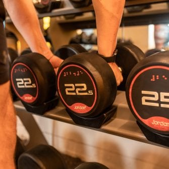 weights at core fitness in the mont hotel